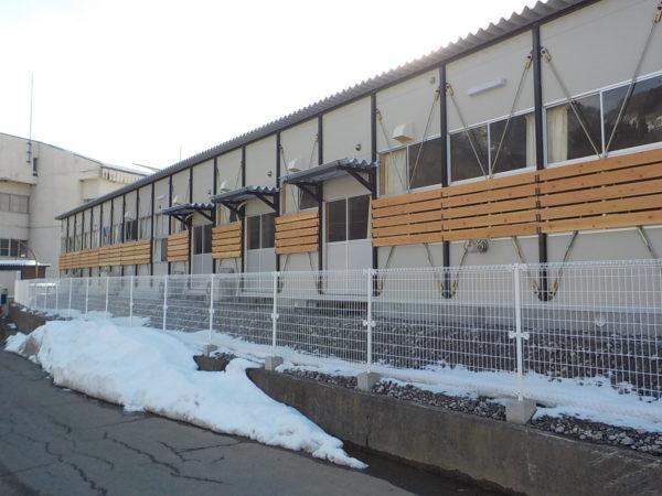 鬼無里中学校 神城断層地震被災に伴う仮設校舎新築工事